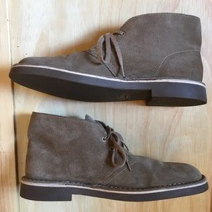 Clarks Men's Bushacre 2 Chukka Taupe Suede Boot